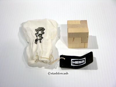 Hess Rare Wooden Puzzle Cube