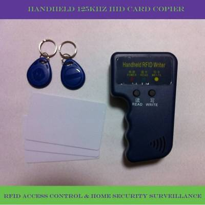 Portable handheld 125Khz HID card RFID copier/ duplicator +5pcs rewritable card