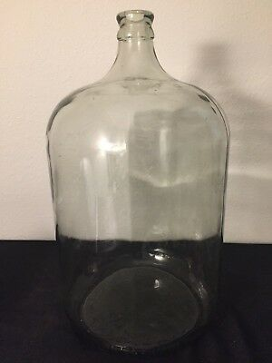 Antique Vintage 6 Gallon 23 Liter Glass Water Jug Jar Bottle Made In Mexico