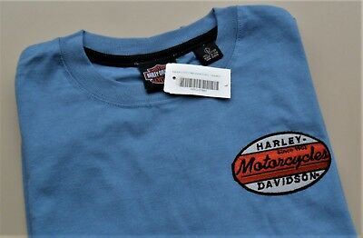 Harley Davidson T-Shirt Made in USA mit Stickerei LARGE oder Grösse DE 52/54 NEU