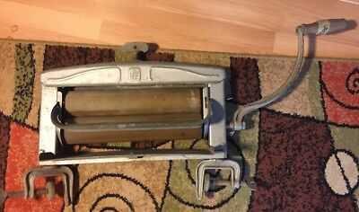 Vintage Lovell Wringer Washer Assembly With Handle Aluminum Metal wood rollers