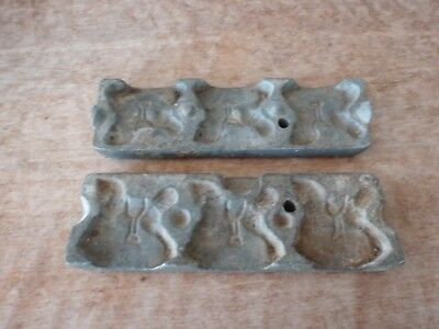 Rare Antique 2-Pc Rocking Horse Toy / Candy / Chocolate Mold #160