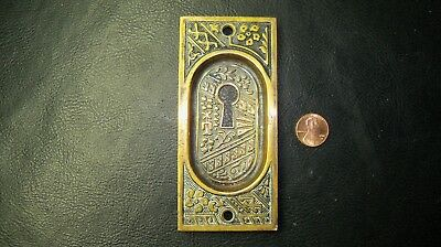 Vintage, Antique Brass Pocket Door Keyhole Plate