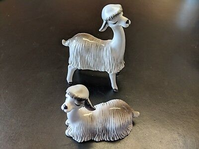 Lefton figurine Llama Set - Gray