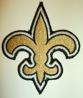 """New Orleans Saints Embroidered PATCH~3 1/2"""" x 2 7/8""""~Iron Sew On~NFL~Ships FREE"""