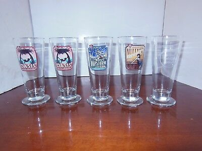 BJ's Beer Glass Lot of 5 BNIB, Oasis Amber, Hopstorm, Nutty Brewnette, Holiday