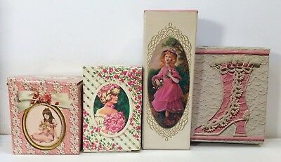 Lot Of 4 Avon Pink Vintage Colognes - New In Boxes - Pretty Girl Pink , Garden +