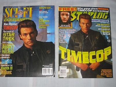 SCI FI Star Log Time Cop Jean Claude Van Damme magazines