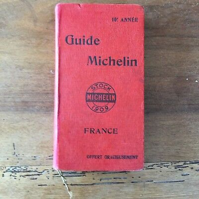 Guide Rouge Michelin France 1909