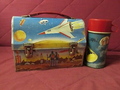 1960 astronaut dome space metal lunchbox plus thermos