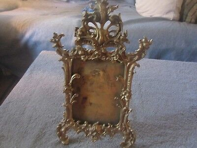 1890,s Brass Floral Victorian Picture Frame
