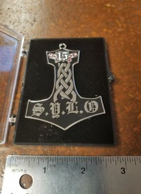 Sylo Hammer Pin 15 Support Your Local Outlaws Mc Maine