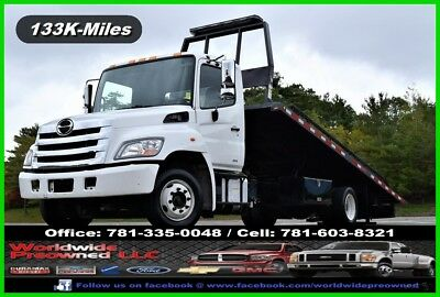 2016 Hino 258 LP Low Profile Used Roll Back Ramp Truck 7.6L Diesel Lo Pro Auto