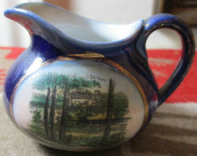 Antique Ceramic Pitcher MURRAY RIVER PRINCE EDWARD ISLAND Canada Hand Watercolor