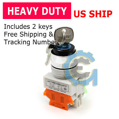 22MM On/Off Locking Key Switch Security Lock Heavy Duty Keyed Power Ignition