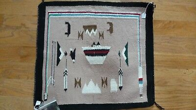 Fabulous AUTHENTIC NAVAJO PICTORIAL RUG by Ethel Baffe, Four Corners Region