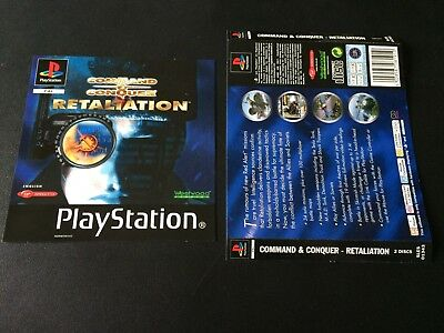 Command & Conquer Retaliation Inserts Front & Back - Sony PlayStation PS1 -