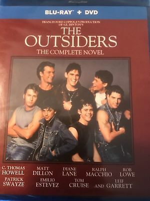 The Outsiders (Blu-ray + DVD Complete Novel Edition) Brand New