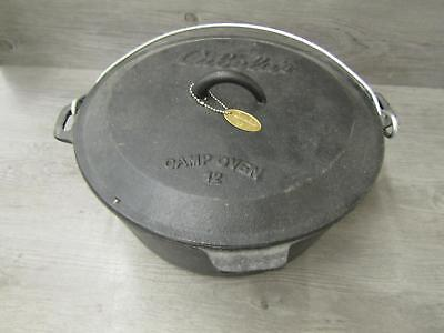 Cabela's Cast Iron Camping Dutch Oven 12 Inch