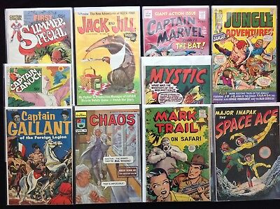 CAPTAIN & MAJOR Variety Lot of 10 Indie Comics - Cap Gallant, Canuck, Marvel, +!