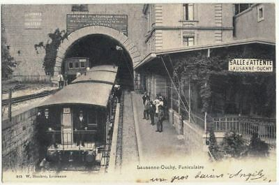 CPA SUISSE  LAUSANNE - OUCHY    Le Funiculaire  N° 842  (rare)