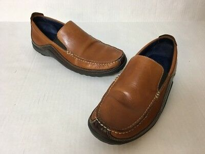 f7234b18efd Cole Haan NikeAir Mens 8.5M Brown Leather Casual Driving Loafers Shoes