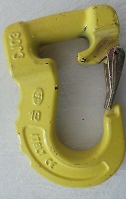 Cartec CJ03 Joker Hook for Web Sling w/ Latch - Yellow