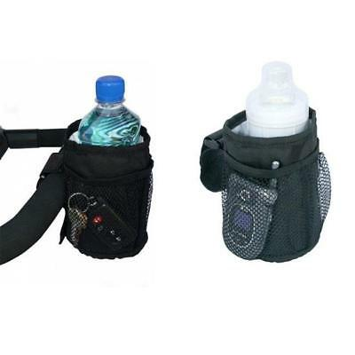 Black Stroller Cup Holder Drink Pocket Insulated Mobile Phone Holder SD