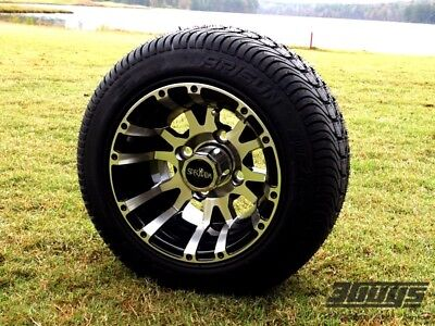 """10"""" Wolverine Wheels With 205/50-10 With LoPro Tires (Set of 4)"""