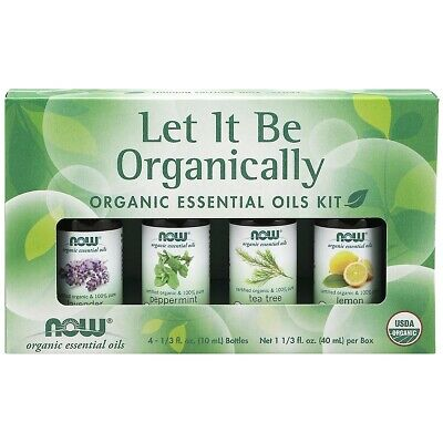 NOW Foods Let it Be Organically Essential Oils Kit 1/3 fl oz each FREE Shipping
