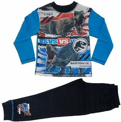 Official Boys Jurassic World Pyjamas Pajamas Pjs Kids Toddler Children 5 6 8 10