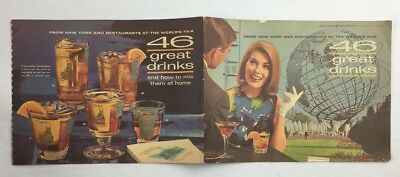 46 Great Drinks Southern Comfort Brochure 1964 1965 NY Worlds Fair Advertisement