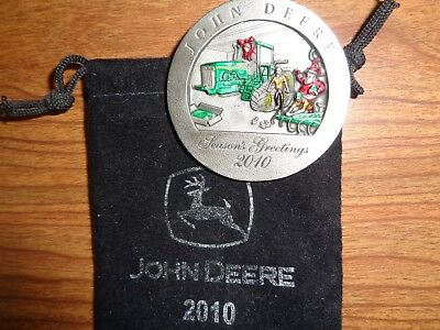 NEW John Deere 2010 8410T Tractor Pewter Ornament, No. 15 in Series PMDC02010