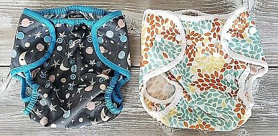 NWOT-Thirsties Cloth Diaper Cover, Size 2, Set Of 2,Stargazer and Fallen Leaves