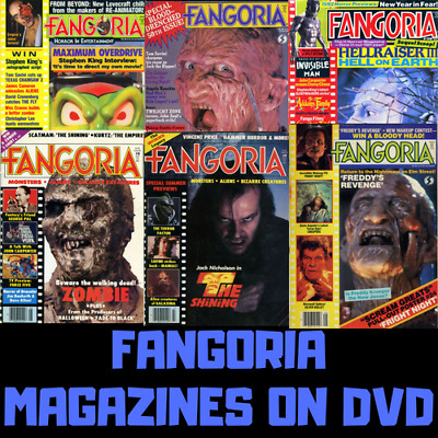 319 Fangoria Digital Magazines Back Issues on 2 Data DVD's - Horror Movies Film