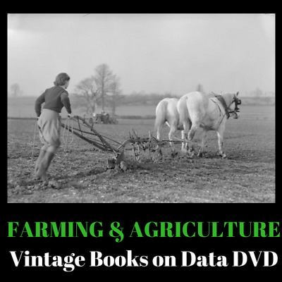 225 Vintage Farming & Agriculture Rare Old Books on Data DVD Livestock Breeding