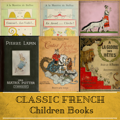 Classic French Language Children's Books - 71 Rare Vintage Old Books on Data DVD