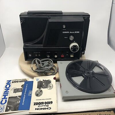 Chinon Sound 6100 Super 8 MM Projector With Leather Bag