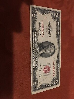 Series of 1953 Two Dollar $2 Bill *Star Note* *Red Seal* US Currency VG-VF