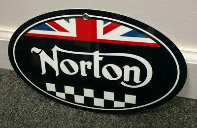 Norton British Motorcycle oval sign