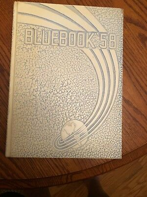 1958 Kenwood High School Year Book BLUEBOOK'58 Historical Collectible