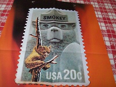 Smokey the Bear Poster RARE 1984 USPS STAMP AD  Fire & Forestry