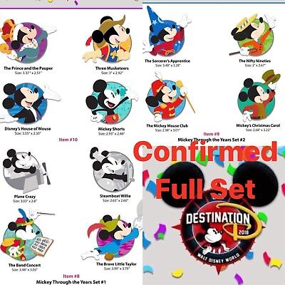 Destination D D23 Confirm LE Through The Years Mickey Mouse Profiles WDI Pins 12