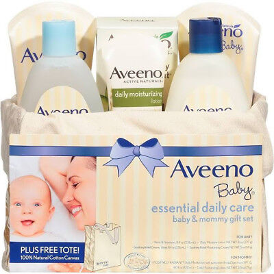 Aveeno Essential Daily Care Baby Mommy Nourishing Skincare Gift Set Bath Lotion
