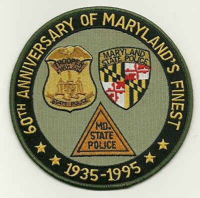 Maryland State Police 60th Anniversary MD's Finest patch