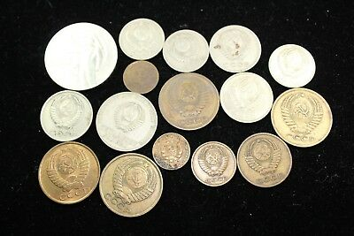 CCCP - Russian  16 assorted coins   lot J 199