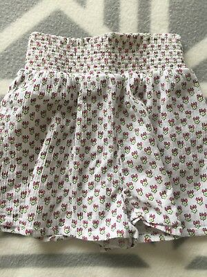 Seed Heritage Girls Cotton Floral Print Shorts Size 6-7