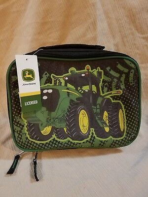John Deere Boys' Little Lunchbox age 4-7 Insulated lunchbox LICENSED BLACK/GREEN