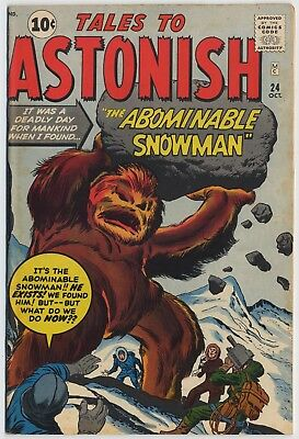 Marvel-Atlas TALES TO ASTONISH #24, Art by KIRBY, DITKO, DON HECK, Fine+, 1961