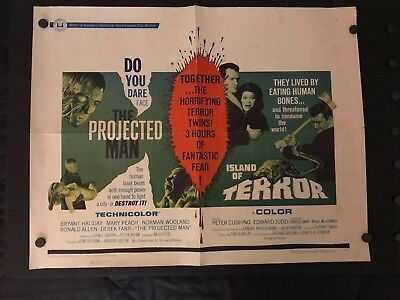 1965 Movie Poster Half Sheet from Sci-Fi Horror Movie THE PROJECTED MAN